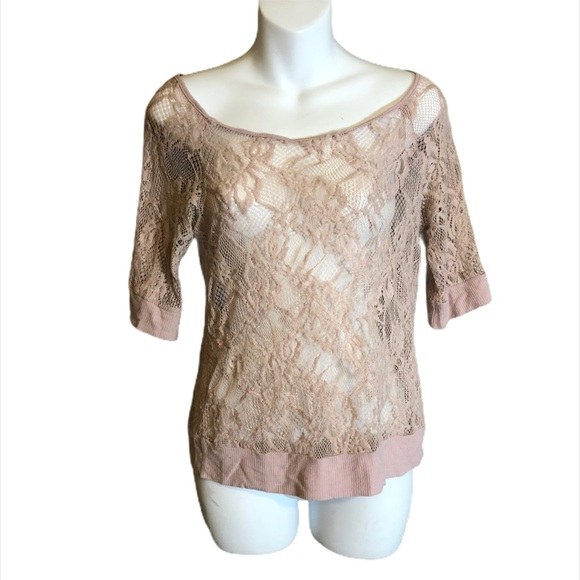 Eye Shadow Lace Top Size Small